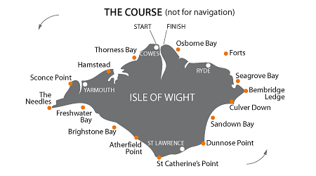 Round the Island Race - Map